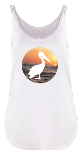 Lady's Sunset Wave Festival Tank
