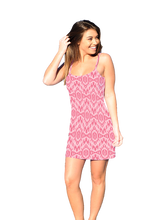 Load image into Gallery viewer, Harper Mini-Dress Coral Mandala