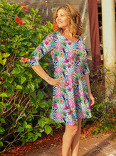 Load image into Gallery viewer, Betsy 3/4 Sleeve Dress Watercolor Pineapple