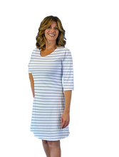 Load image into Gallery viewer, Betsy 3/4 Sleeve Dress Navy Stripe