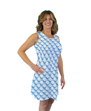 Load image into Gallery viewer, Betsy Sleeveless Dress Blue Waves