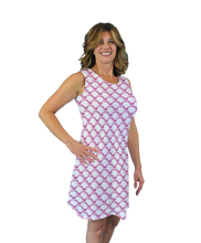 Load image into Gallery viewer, Betsy Sleeveless Dress Pink Waves