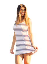 Load image into Gallery viewer, Harper Mini-Dress Navy Stripe