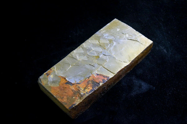 Japanese Natural Whetstone Shohonyama Aiiwatani Karasu 1053g for Razor *F/S