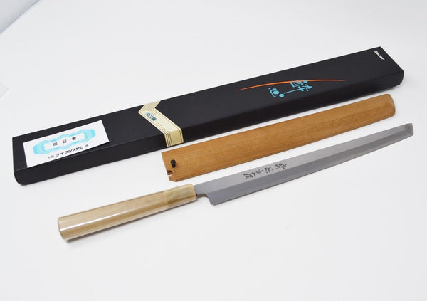 【Suisin】 White 2 Carbon Steel Sakimaru-Takohiki 270mm Hongasumi from Sakai