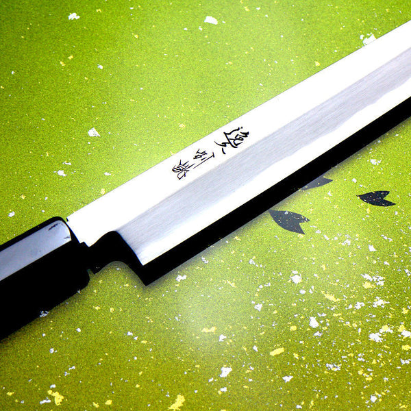 JAPAN CHEF White STEEL Knife 【Yanagiba】 FISH KNIFE/Kitchen knife /Ikyu *F/S*