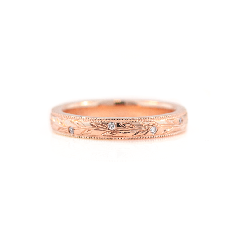 Women's Olive Branch Wedding Ring