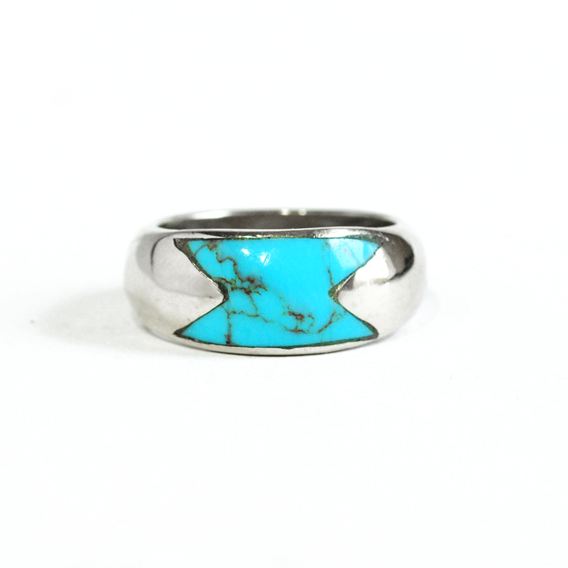 Turquoise Inlay Wedding Ring