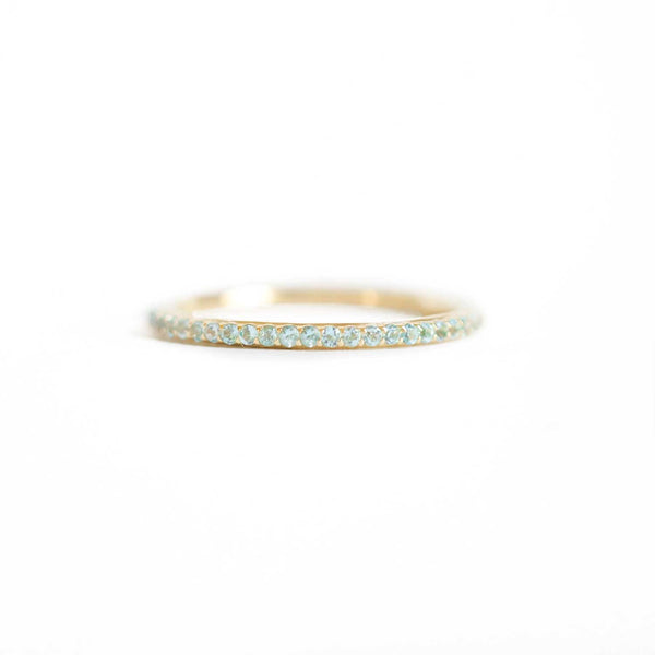 Delicate Shared Prong Aquamarine Ring