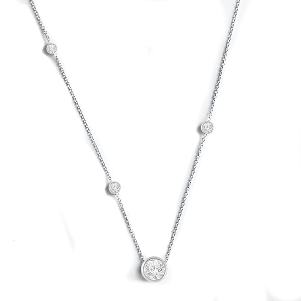 Classic Diamond Bezel Necklace