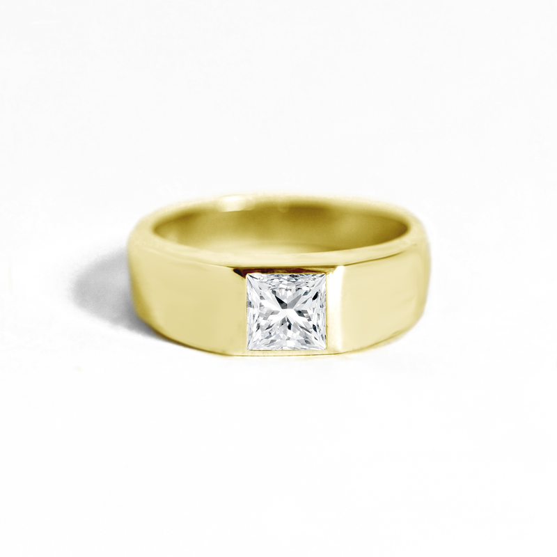 Princess Cut Diamond Signet Ring