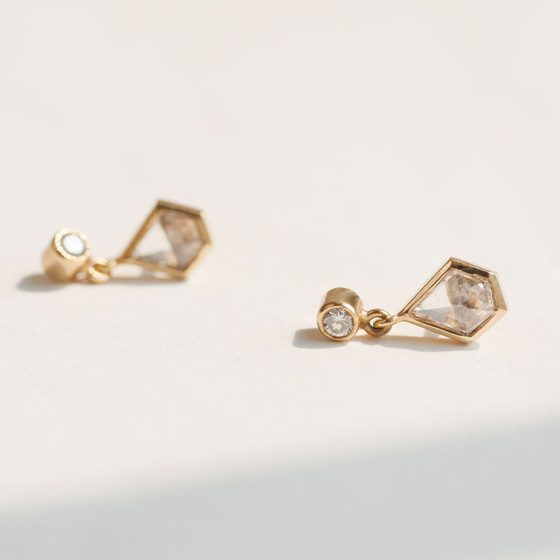 Kite Diamond Stud Earrings