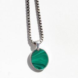 Malachite Inlay Amulet