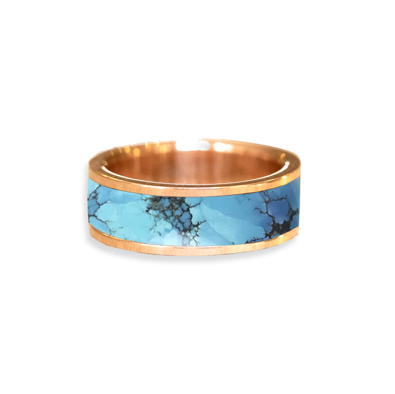 Golden Hills Turquoise Inlay Wedding Ring