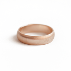5mm Matte Wedding Band Ring