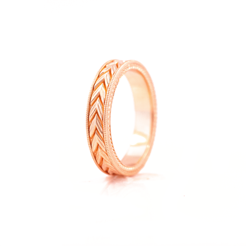 5mm Wheat Engraved Ring