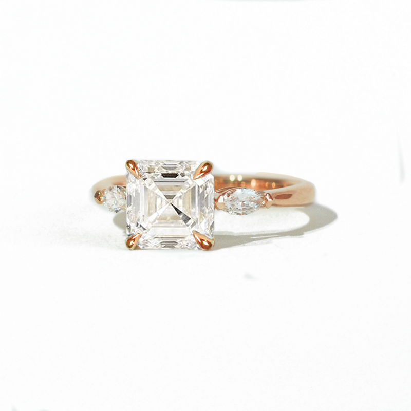 Asscher & Marquise Diamond Ring