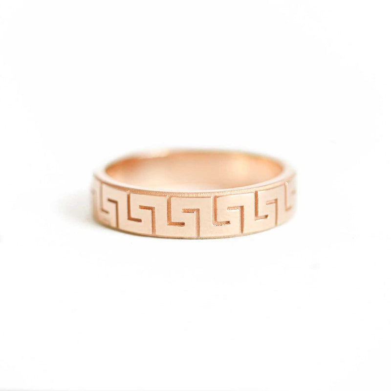Deco Greek Pattern Band Ring