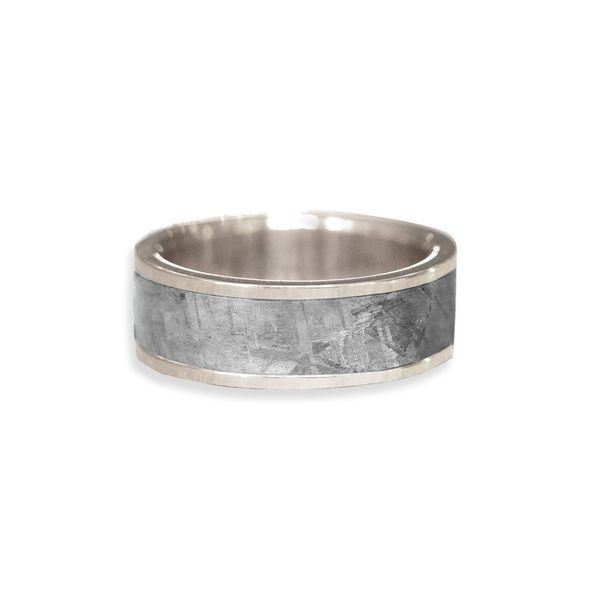 Gibeon Meteorite Inlay Wedding Ring