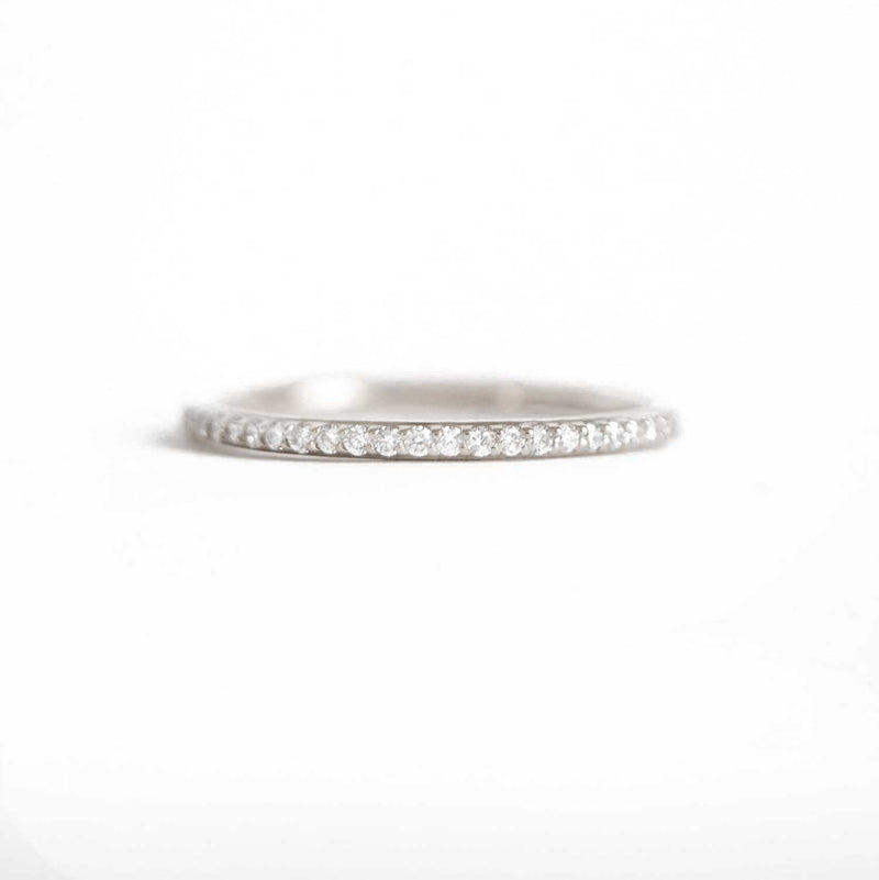 Delicate Shared Prong Diamond Ring