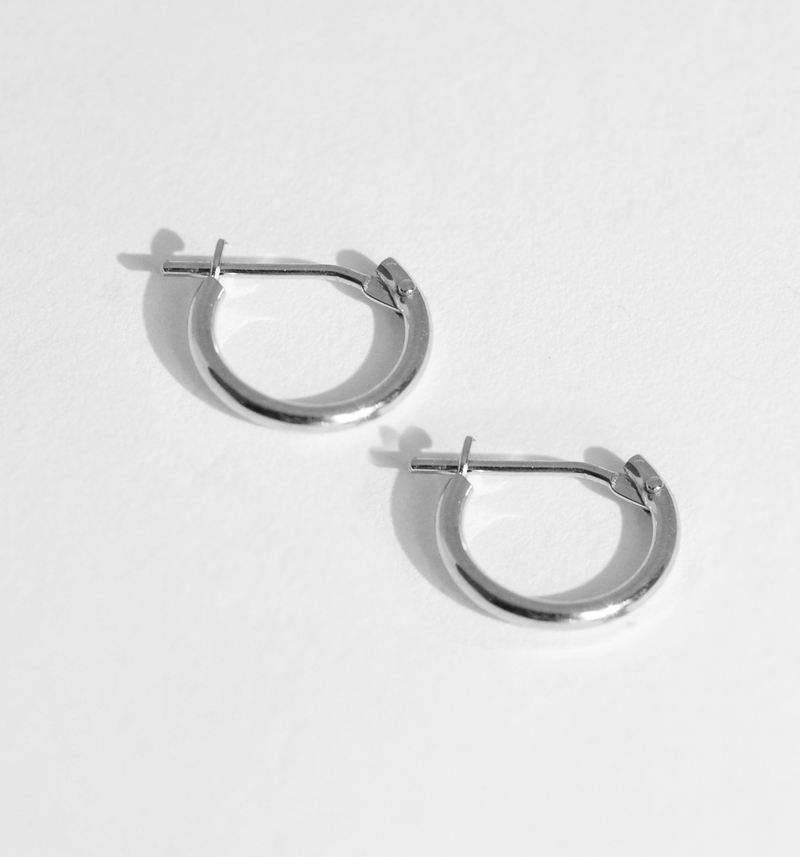 Petite 14K Gold Hoop Earrings