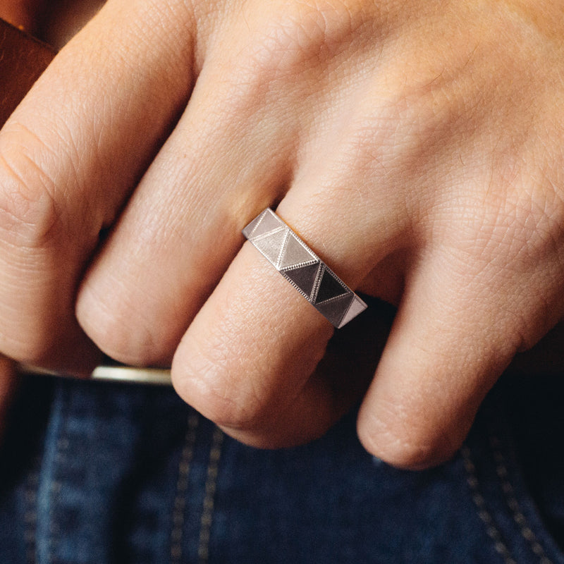 Faceted Triangle Ring