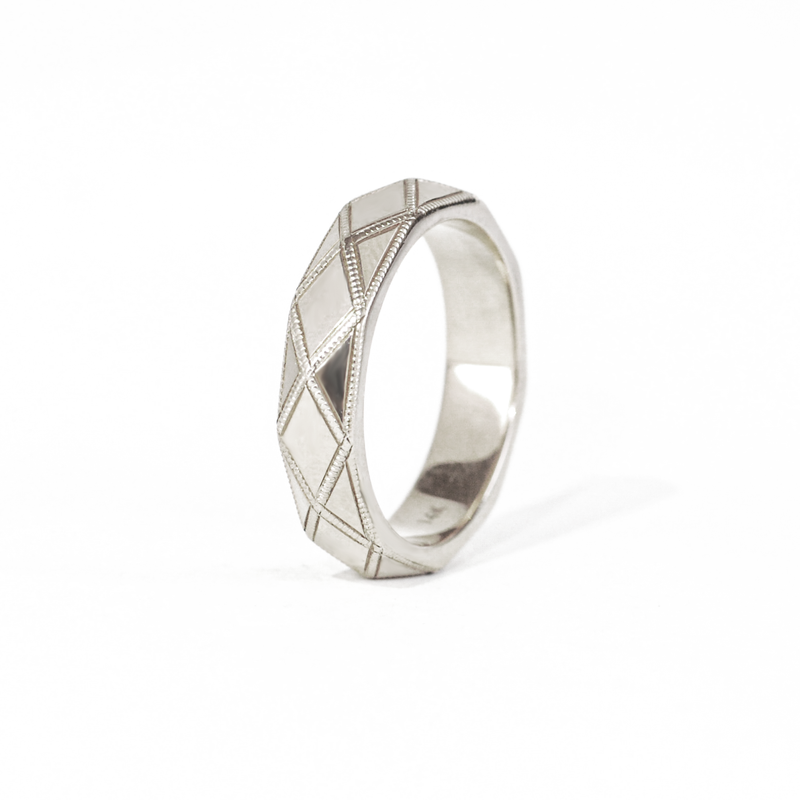 5mm Faceted Band Ring