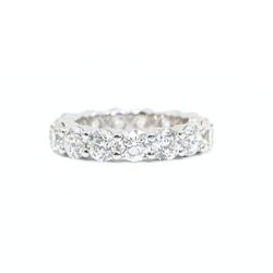 Large Shared Prong Diamond Eternity Ring 6.87 ctw.