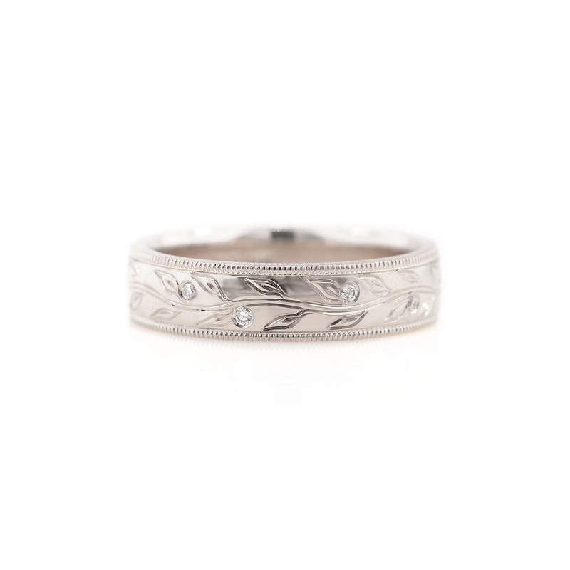 Men's Olive Branch Wedding Ring