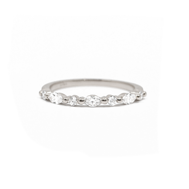 Marquise and Round Diamond Ring
