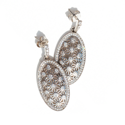 Art Deco Inspired Diamond Statement Earrings