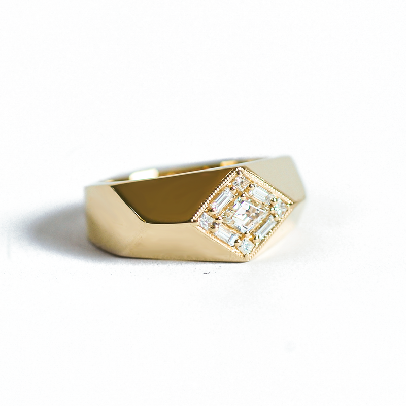 Kite Shaped Diamond Fitzgerald Ring