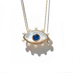 Sapphire Evil Eye Necklace