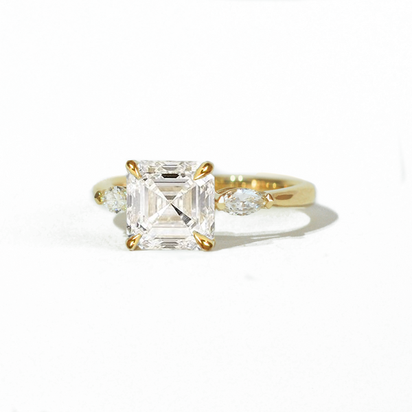 Asscher & Marquise Moissanite Ring