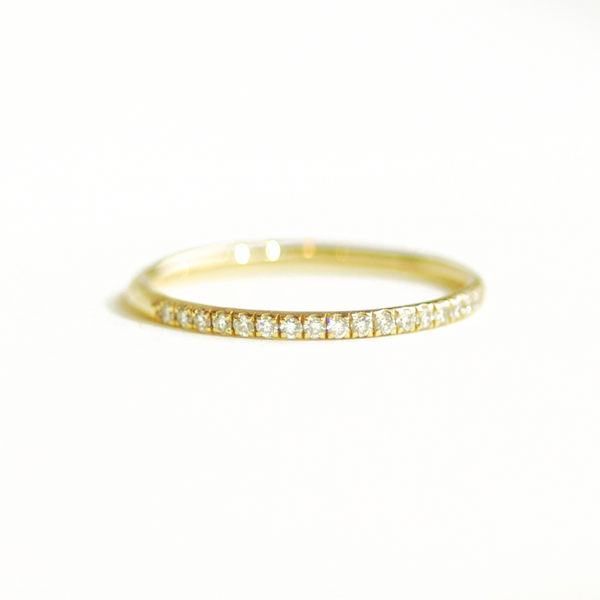 Delicate French Pavé 1/2 Diamond Wedding Ring