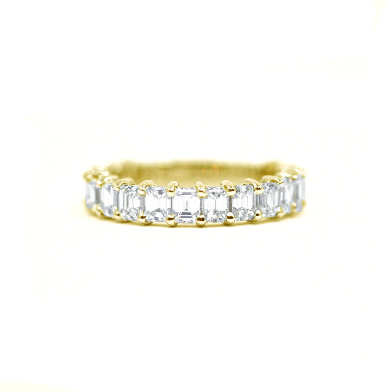 Emerald Cut Diamond 3/4 Eternity Ring