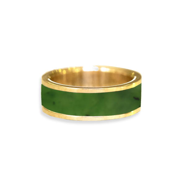 Jade Inlay Wedding Ring