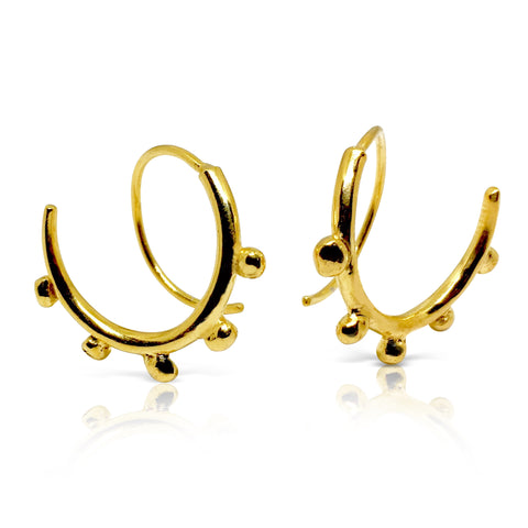 Beaded Horn Infinity hoop earrings