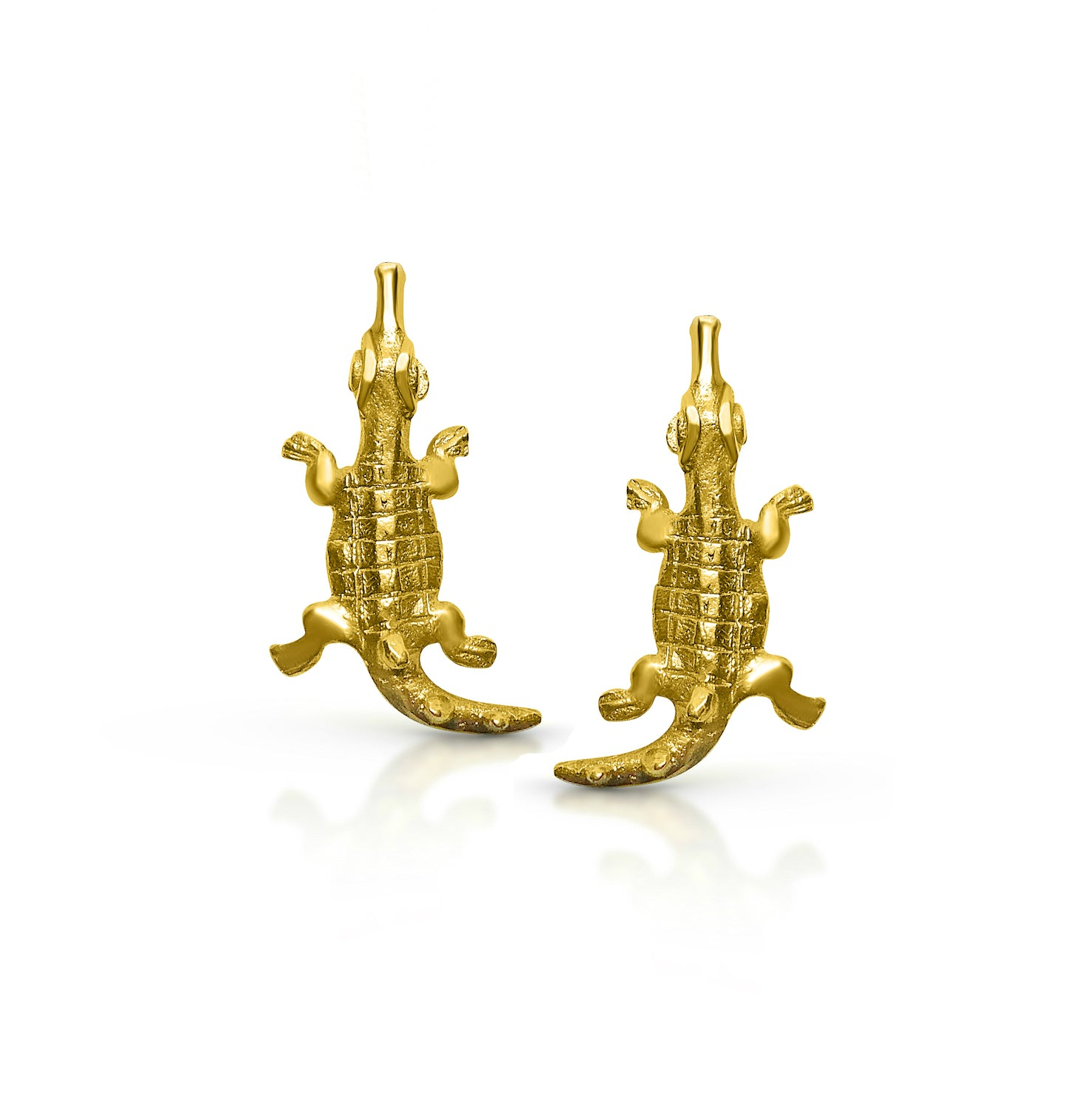 Croc stud earrings