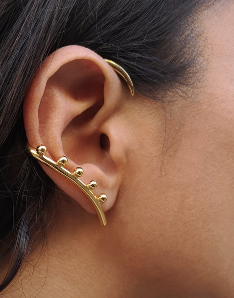 Beaded Horn earcuff
