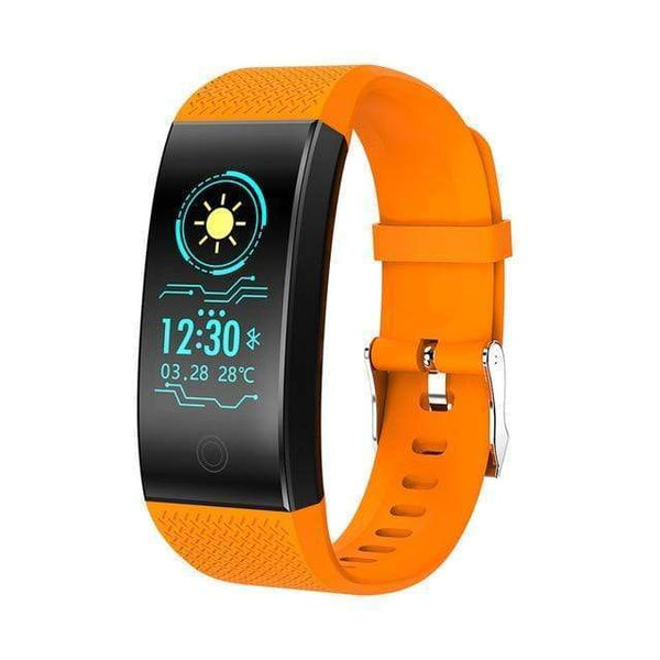 One Best Choice Technology Arancione Screen Smart Bracelet Heart Rate Monitor IP68 Waterproof Fitness Tracker Band Bluetooth 4.0 Sports Wristbands