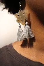 Load image into Gallery viewer, Horn + Tassel Earrings