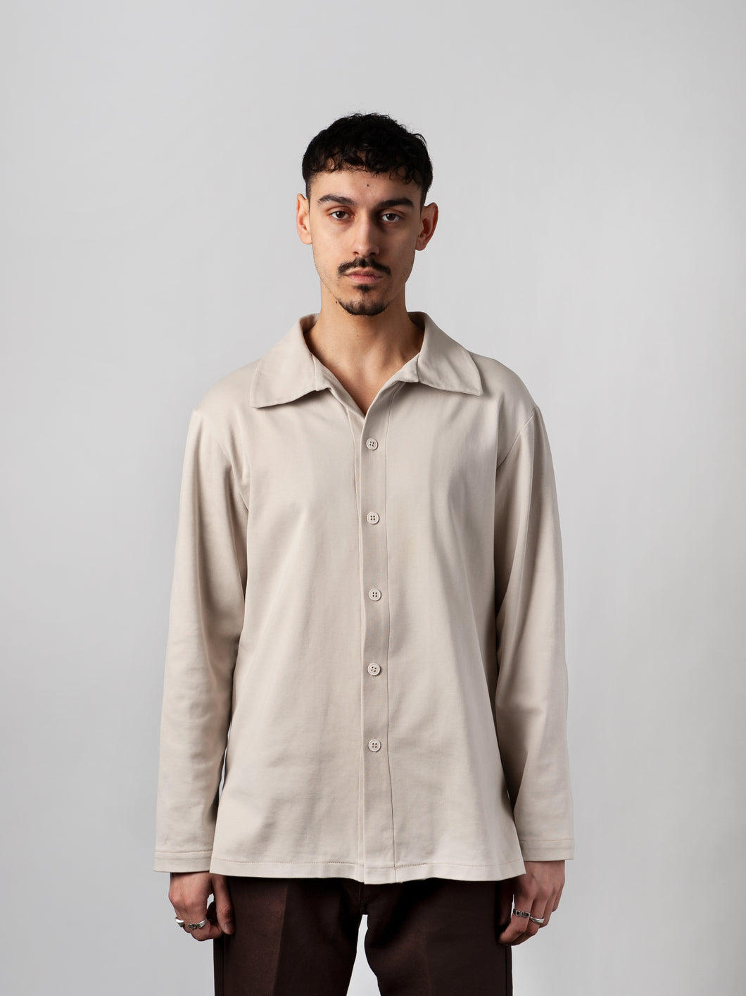Beige Organic Long Sleeve Shirt - Carnal Apparel