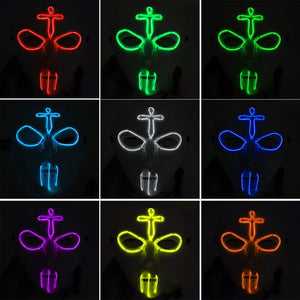 LED Evil Gangster Mask (10 Colors)