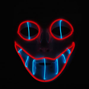 led creepy clown mask
