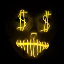 Load image into Gallery viewer, LED Dollar Signs Mask (10 Colors)