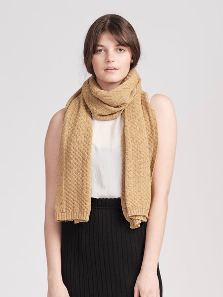 Willoughby scarf - Oatmeal / Honey
