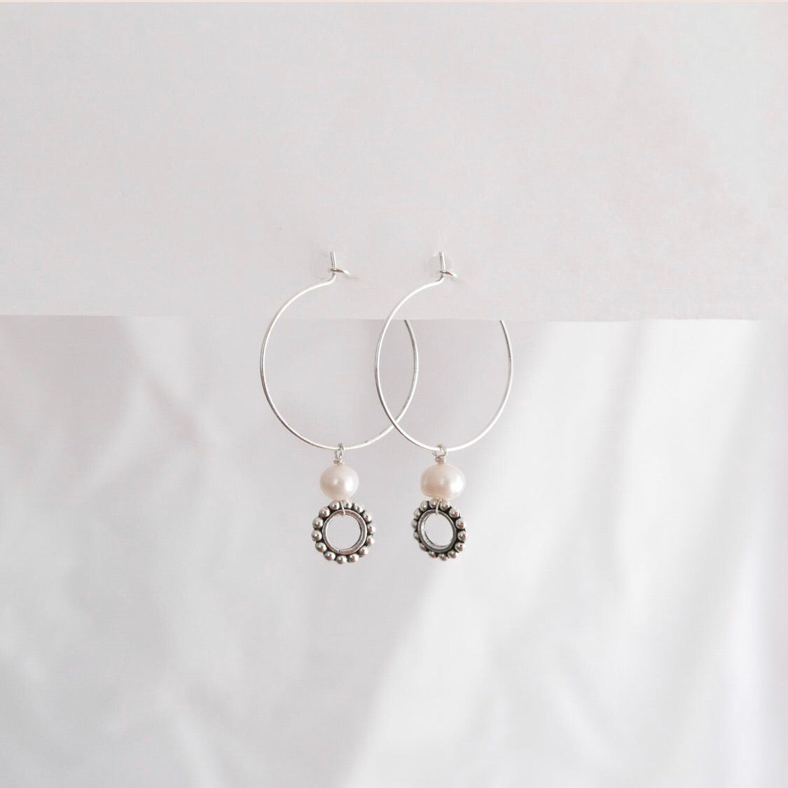 Goodheart  hoops - River + silver plate