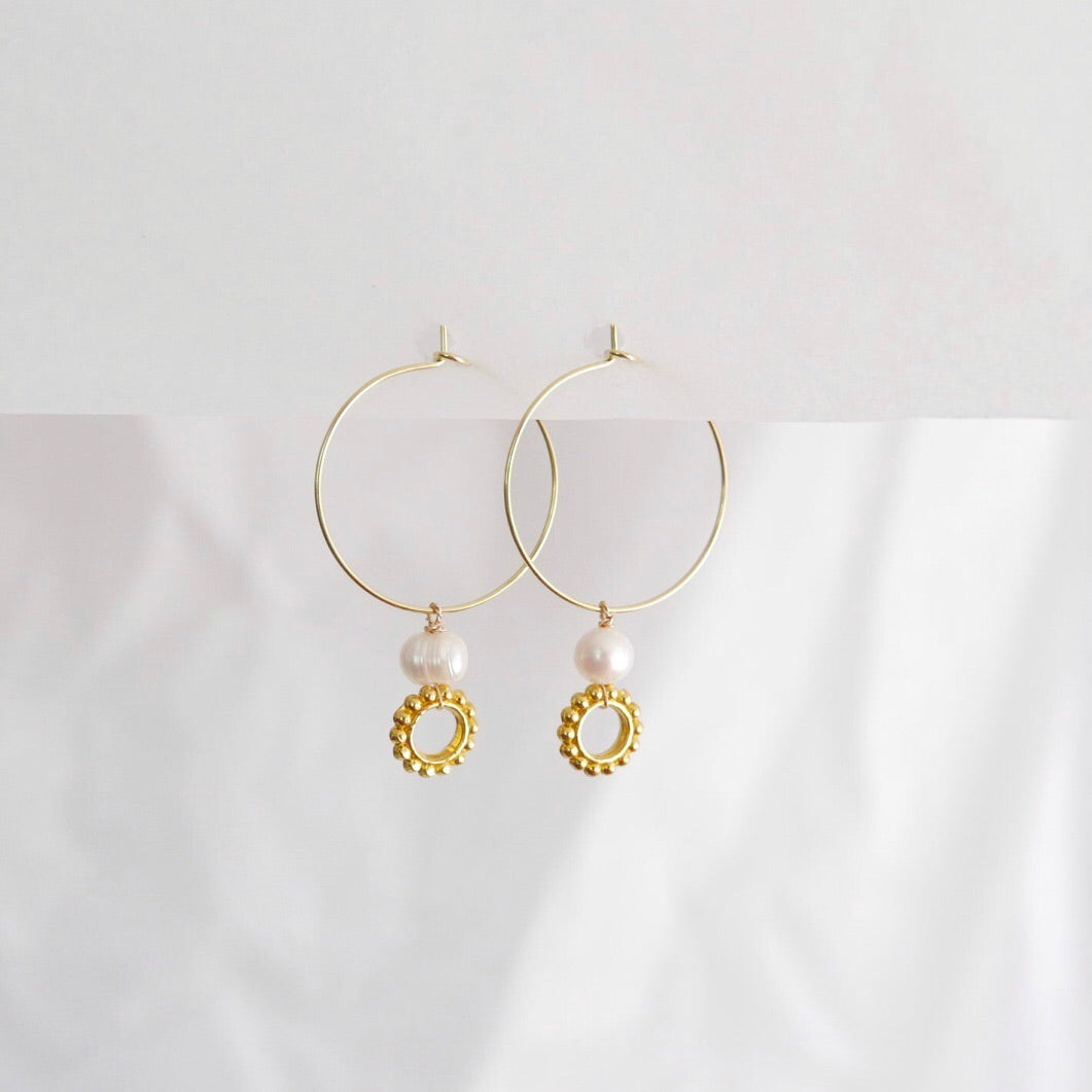 Goodheart hoops - River  + gold plate