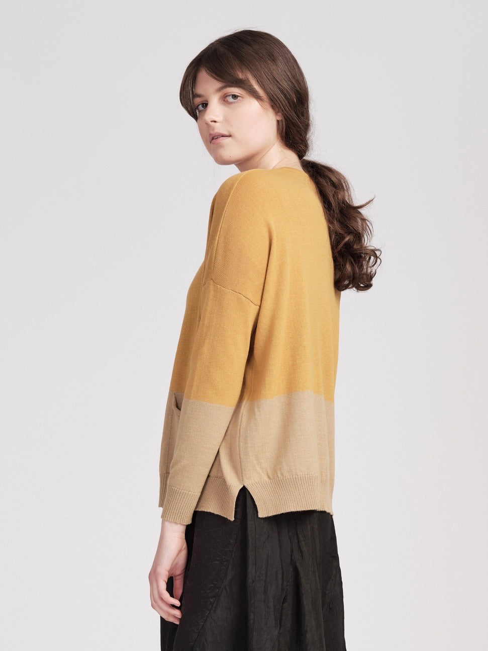 Meg Cardigan  - oatmeal / honey